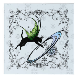 Cosmic Cat Snowflake Acrylic Wall Art