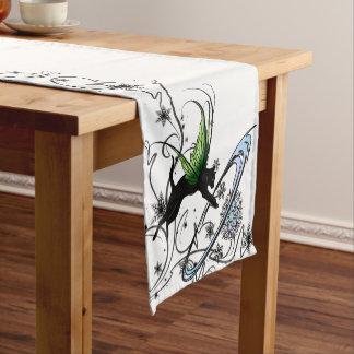 Cosmic Cat Snowflake Short Table Runner