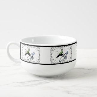 Cosmic Cat Snowflake Soup Mug