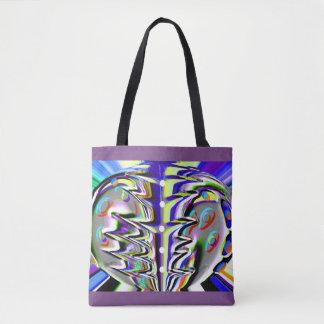 Cosmic chaos tote bag