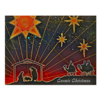 Cosmic Christmas - Holiday Cards Postcard