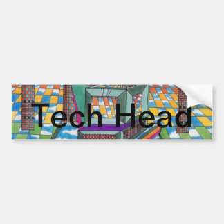 Cosmic Computer Tech Head by CricketDiane Bumper Stickers