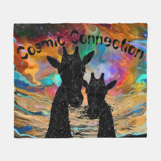 Cosmic Connection Giraffes Fleece Blanket
