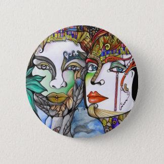 Cosmic Couple 6 Cm Round Badge