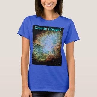 Cosmic Cowgirl Women's Nebula Galaxy Shirt