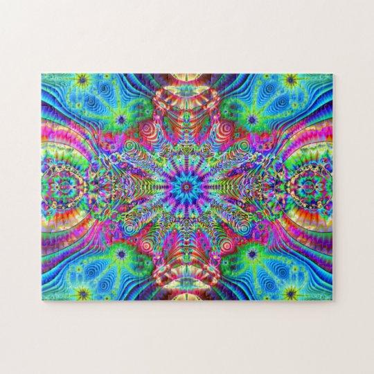 Cosmic Creatrip - Psychedelic trippy design Jigsaw Puzzle