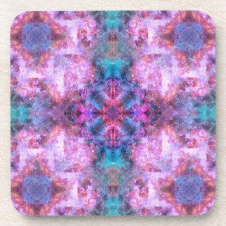 Cosmic Cross Mandala Beverage Coaster