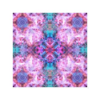 Cosmic Cross Mandala Canvas Print
