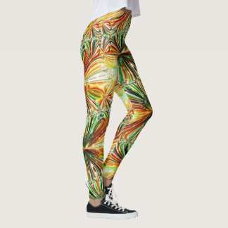Cosmic Crystal Flower Leggings