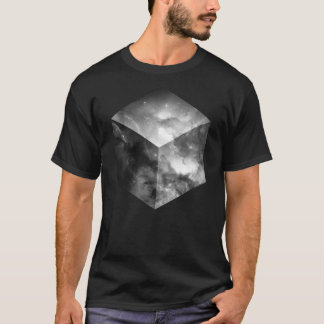 Cosmic Cube - Black and White T-Shirt