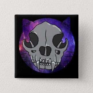 """Cosmic Deathcat """"button"""" 15 Cm Square Badge"""