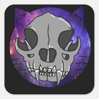 "Cosmic Deathcat ""sticker"" Square Sticker"