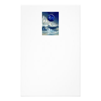 Cosmic Earth at Night and Thomas Moran Iceberg Stationery