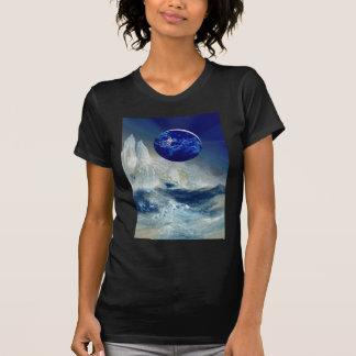 Cosmic Earth at Night and Thomas Moran Iceberg T-Shirt