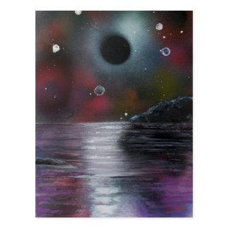 Cosmic Eclipse Postcard