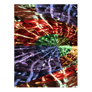 Cosmic Energy - Basket Weave Pattern3 Post Card