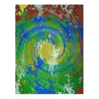 COSMIC Evolution Revolution : Elegant Art Green Postcard