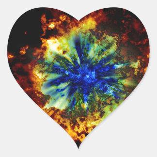 Cosmic Explosion Heart Sticker