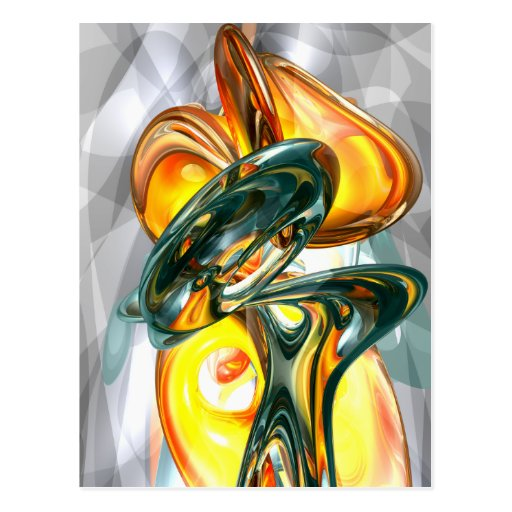 Cosmic Flame Abstract Postcard