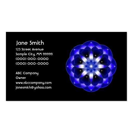 Cosmic Flower Business Card Template