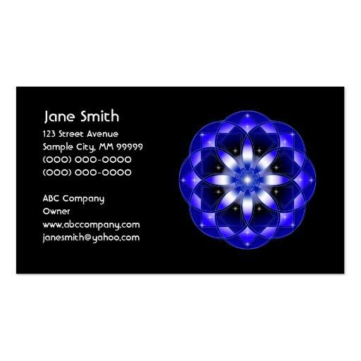 Cosmic Flower Business Card Template