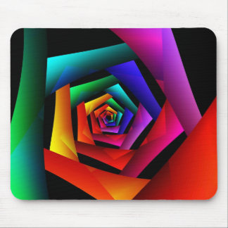 Cosmic FlowerCute Cool Modern Abstract Art Mouse Pad