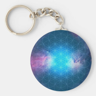 Cosmic Flower of Life Key Ring