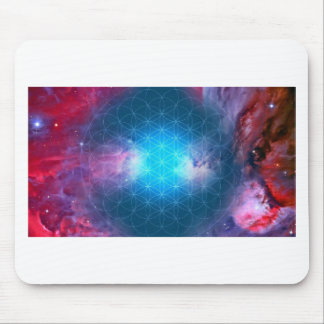 Cosmic Flower of Life Mouse Pad