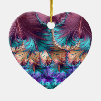 Cosmic Fountain of Childhood Fractal Abstract Ceramic Ornament