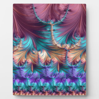 Cosmic Fountain of Childhood Fractal Abstract Plaque