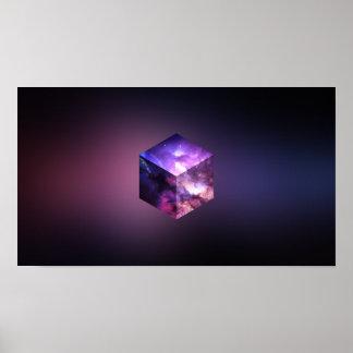 Cosmic Galaxy Cube Poster