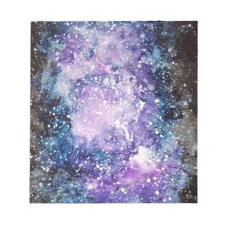 Cosmic galaxy notepad