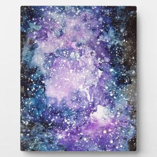 Cosmic galaxy plaque