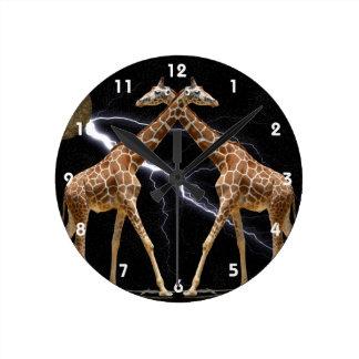 COSMIC GIRAFFES 2B ROUND CLOCK