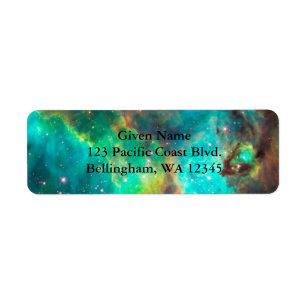 Cosmic Green Avery Label