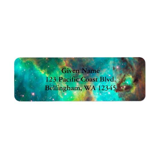 Cosmic Green Avery Label Return Address Label