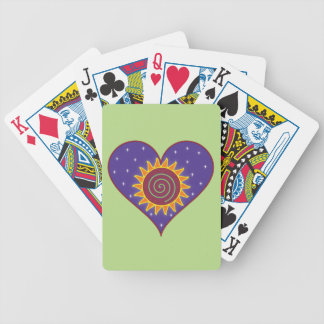 Cosmic Heart Deck of Cards - Green Background