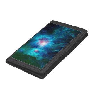 Cosmic Hearth Azul Trifold Wallet