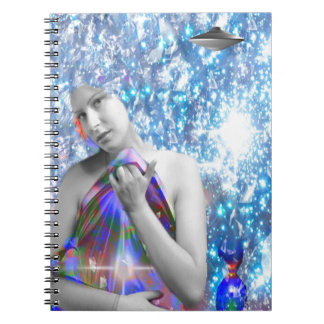 Cosmic Hitch-hiker Spiral Notebook
