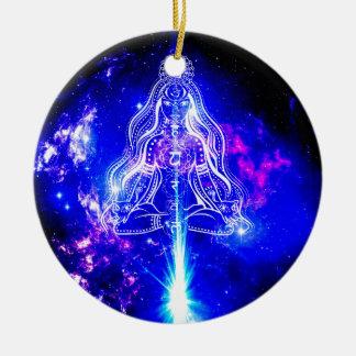 Cosmic Iridescence Ceramic Ornament