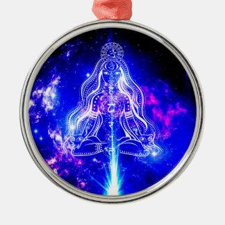 Cosmic Iridescence Metal Ornament