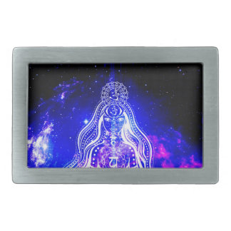 Cosmic Iridescence Rectangular Belt Buckles