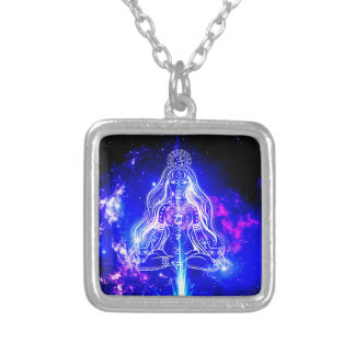 Cosmic Iridescence Silver Plated Necklace