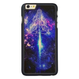 Cosmic Iridescent Koi Carved Maple iPhone 6 Plus Case