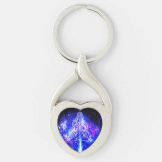 Cosmic Iridescent Koi Key Ring