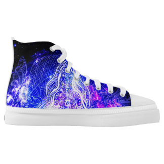 Cosmic Iridescent Koi Printed Shoes