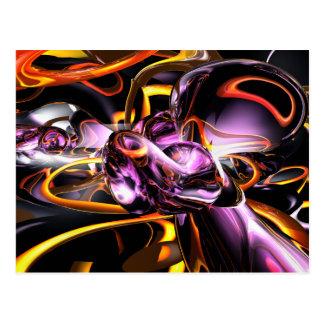 Cosmic Lightning Abstract Postcard