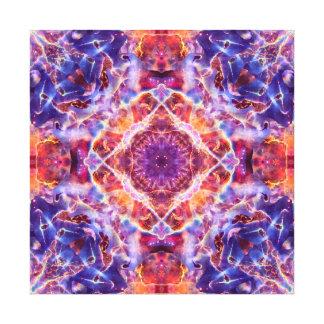 Cosmic Lightning Cross Mandala Canvas Print