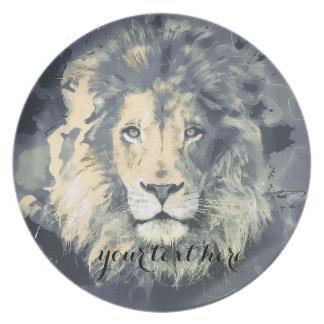 COSMIC LION KING   Custom Melamine Plate