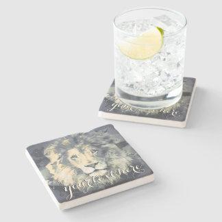 COSMIC LION KING | Custom Stone Coaster